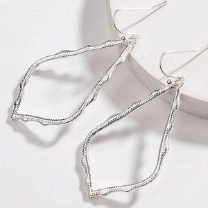🆕 Geometric Silver-Tone Earrings